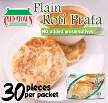 Chinatown 30 pieces Roti Prata Plain - Halal Product from Singapore
