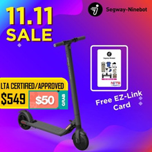 【11.11 SALE】Segway ES2 Escooter ★UL2272 Certified★LTA Approved★