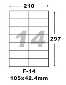 $2 for 10 Sheets Of F-14 Sticker Label.Use In A4 Size Printers.Address Labels/Product Labels/Adhesive sticker/ Mailing Labels