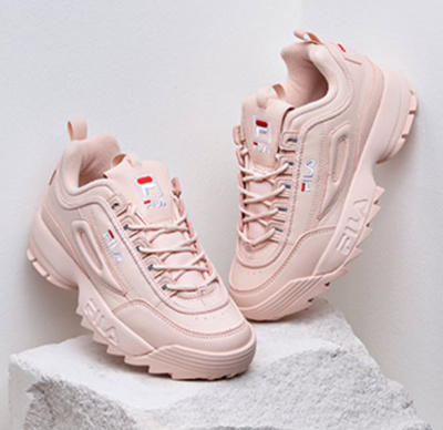 f7e12c494042 FILA Pink Shoes Sneakers DISRUPTOR II 2 Women Authentic US Size Rose Free  Ship