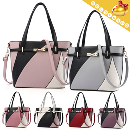 ◇Stylish Contract Color Fashion Bag◇ 2way (Tote^Shoulder Bag)-6