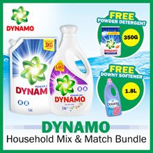 [Dynamo] Power Gel Detergent + Refil Pouch FREE 1.8L Downy Fabric Softerner