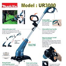 MAKITA UR3000 GRASS TRIMMER / SUITABLE FOR CUTTING GRASS AT HOME GARDEN / HOME GARDENING TOOL