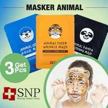 [3 PCS] SNP Animal Mask / Masker Animal / Animal Face Mask / Masker Topeng