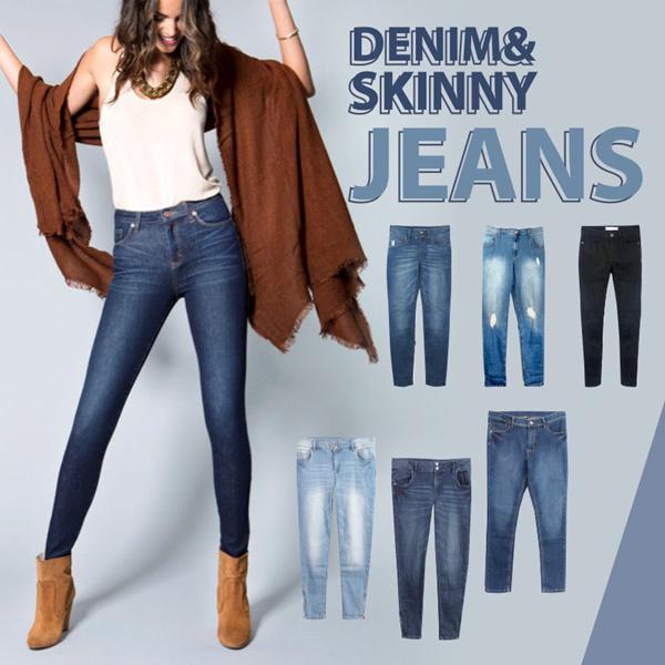 BEST SELLER! Women Denim Skinny Jeans Deals for only Rp120.000 instead of Rp120.000