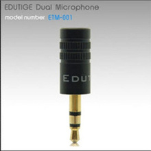 Edutige Dual Microphone ETM-001/External microphone for GoPro Hero2/3 PCs laptops MP3 players digital voice recorders camcorders DSLR cameras