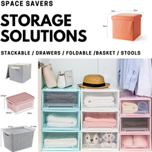 Household Storage Solutions | [Stackable / Foldable / Drawer Box] | 1/2/3/4 Pcs Set
