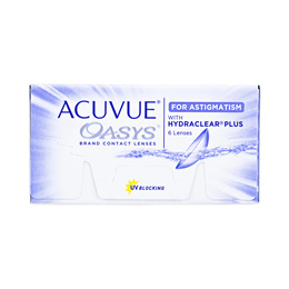 Johnson and Johnson Acuvue Oasys for Astigmatism with Hydraclear Plus (6pcs/box) PWR 0.00 ~ -8.00