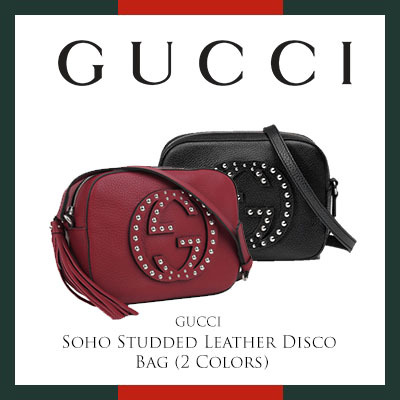 1def979d87 Qoo10 - Gucci Soho Studded Leather Disco Bag (Available In 2 Colors ...