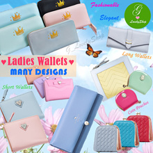 Premium Ladies Compact Short/Long Pastel Wallet Purse Coin Phone Pouch Card Holder