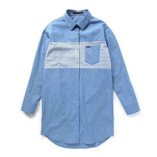 ペノムウンスリ女性・ストライプ配色ワンピースB162MOP156W 面ワンピース/ 韓国ファッション