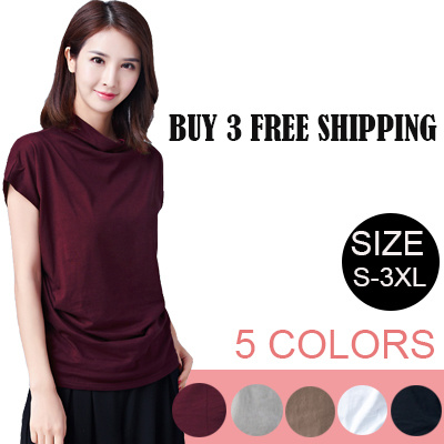 Fast Delivery Korean Women Fashion   Cotton   loose   Resonable Price  T-shirt 9a19f152290c