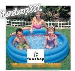 Cool Summer * INTEX-58426 Inflatable swimming pool with crystal blue ocean ball pool bath Sandbox