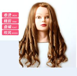 70%Real hair head mold can roll hot blow dummy head model exercise hair braid