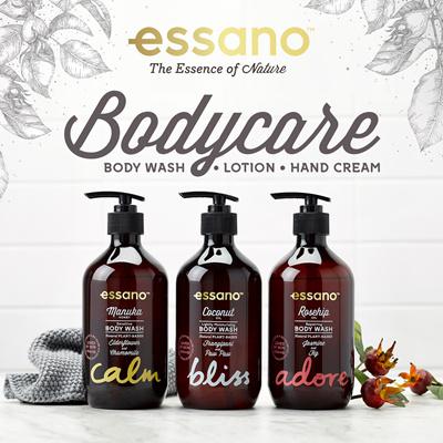 ☆ESSANO☆Body Care | Manuka Honey | Coconut Milk Body Wash | Body Lotion
