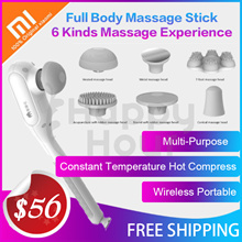 XIAOMI MOMODA Massage Stick with 6 Massaging Heads /chargeable Wireless portable