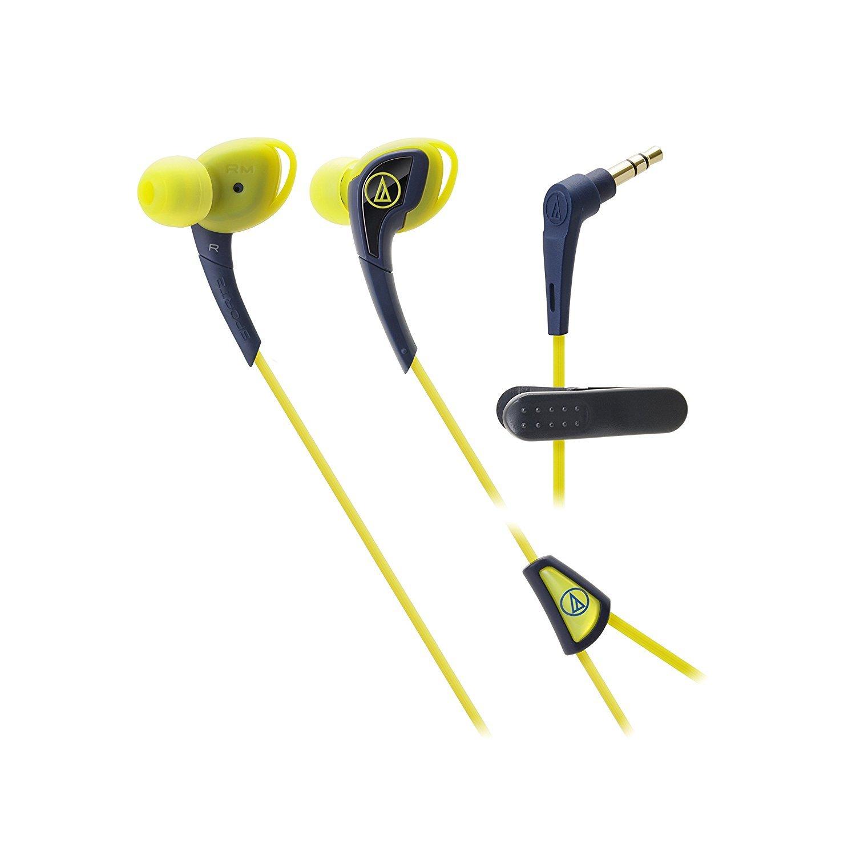 Audio-technica 運動型入耳式耳塞ATH-SPORT2 耳機 NY海軍黃/RD紅色/YP黃/粉紅-混色