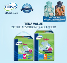 [Free HeatPad][Apply Q10 Coupon] TENA Tape Value M (8x12s)/Value L (8x10s) Adult Diapers