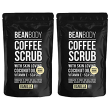 Mr. Bean Body Coffee Scrub Vanilla 220g&quot Pack of 2&quot