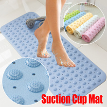 TPR Odorless Non-Slip Bathroom Floor Mat Shower Bath With Suction Cup Anti Slip