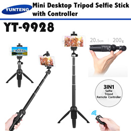Yunteng 9928 Selfie Tripod Monopod Stick with Phone Holder Bluetooth Remote Controller