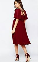 bigsize maroon dress