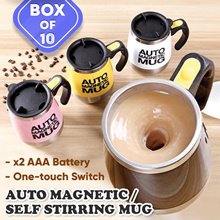 [Bulk sale 10pcs]400/450ml Mugs Automatic Electric Lazy Magnetic Self Stirring Mug Coffee Milk Mixi
