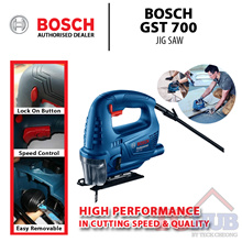 Bosch GST 700 Jig Saw with 500W input power. Faster and easier blade change!