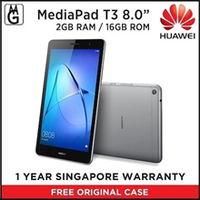 HUAWEI MEDIAPAD T3 8.0/ 2GB RAM / 16GB ROM/ SD SLOT/ Local Warranty Original Case