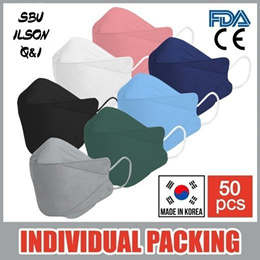 KOREA 3D MASK / SBU ILSON QNI / Made in Korea / Individual Packing / Surgical KF94 Mask / Qoo10 Sale
