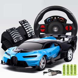 Large steering wheel Porsche car electric charge shift remote control car boys toy car.