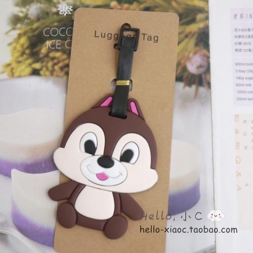 Creative cute cartoon Mickey Strawberry Xiong Shidi Pooh silicone luggage  tag tag pendants ornaments