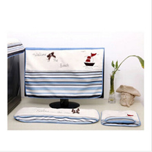 Dust jacket denim lovely pastoral desktop computer sets LCD display cover keyboard cover cloth_Simpl