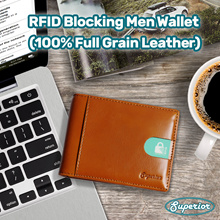 [NEW] RFID Blocking Slim Minimalist Wallet for Men - Superior Genuine Leather with Money Clip