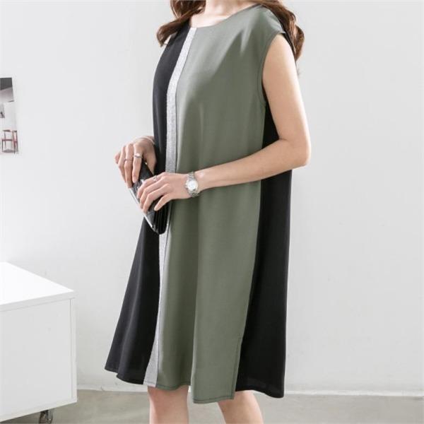 ピピンデニーケルリパールポイント配色ワンピース34690 new プリントワンピース/ワンピース/韓国ファッション