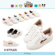 Gracegift-Disney Tsum Tsum Cotton Candy Platfrom Sneakers/Women/Ladies/Girls Shoes/Taiwan Fashion