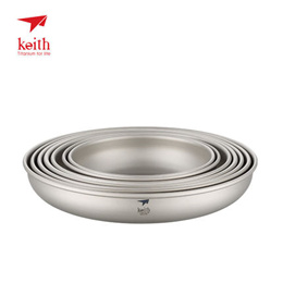 Keith armour of pure titanium plate and titanium healthy drug-free camping tableware KT362~8 seven