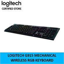 Logitech G915 Wireless Mechanical Gaming RGB Keyboard Clicky Linear Tactile 2 Years Local Warranty