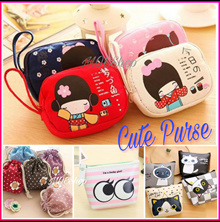 Fashion Wallet cute cartoon doll Japanese Korean Kawaii  Party Casual Wrist Tote Purse coin  Multi p