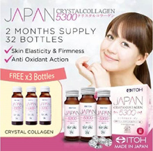 #1 Made in Japan★ITOH Japan CrystalCollagen 5300★2 Months Supply★FREE 1 Week Supply