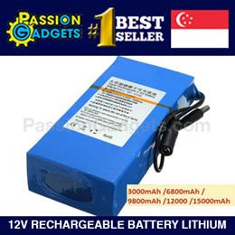 12v Battery Lithium Rechargeable For Deck LED Lights 3000mAh 6800mAh 9800mAh 12000mAh 15000mAh 3000m