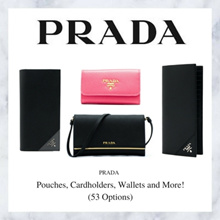 Prada Pouches Cardholders Wallets and More! (Available In 53 Options)