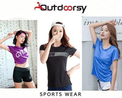 Outdoorsy  Womens Sports Wear Tank Top Sleeveless Top Tee T Shirt Yoga Top  Gym e87fdfaca17