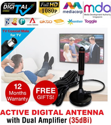 ♛★Lower Price in Qoo10♛★ 2018 Model DVB-Digital Singapore Digital Antenna Receiver ★