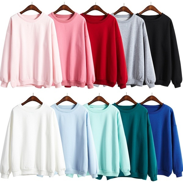 51bbb15f4cf Qoo10 - 2017 Autumn Winter Warm T-shit Women Pullovers Solid Color ...