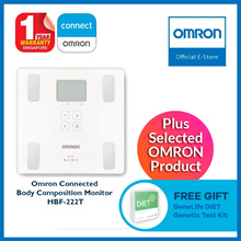 Omron Connected Body Composition Monitor HBF-222T Bundle Free Gift  Genetic Diet ( worth 89$)