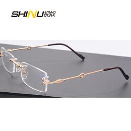 75f7cb527d3 Rimless Optical Eyeglasses Frame Ultralight Prescription Glasses Frames  Myopia Eyewear Women Men