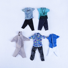5 Sets Casual Suits Clothes Tops Pants For Barbie Boy Friend Ken Dolls