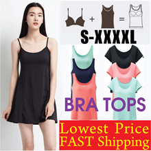 ★SUPER SALE ★High quality Bra Dress/Tank Top/Bra Top/Padded Camisole/Yoga Wear/Plus size/Sports Bra