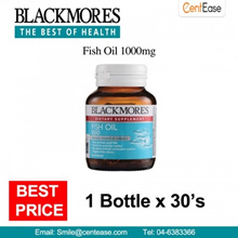 Blackmores Fish Oil 1000mg Dietary Supplement (1 Bottle x 30 S)